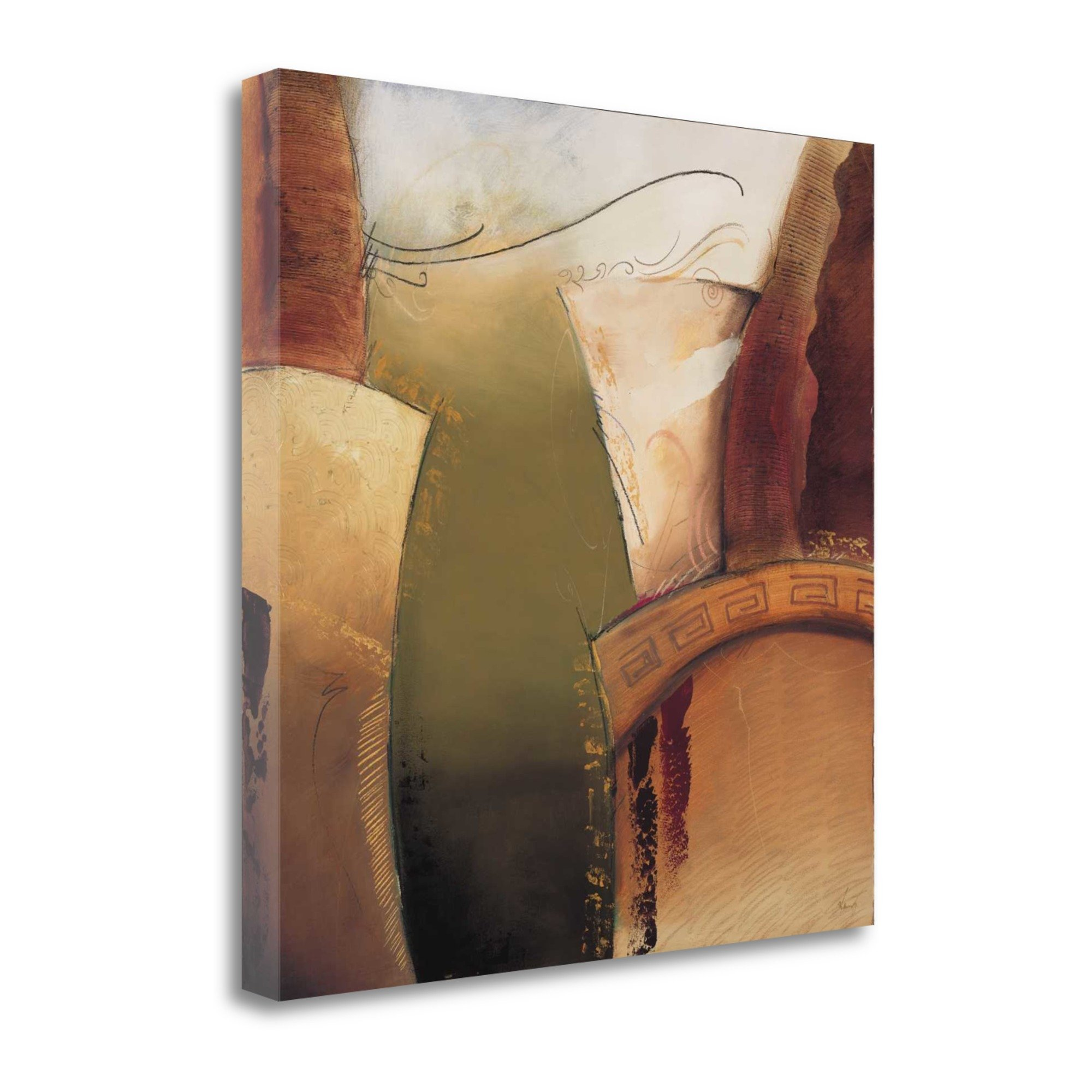 ''Emerging II'' By Kamy, Fine Art Giclee Print on Gallery Wrap Canvas, Ready to Hang by Tangletown Fine Art