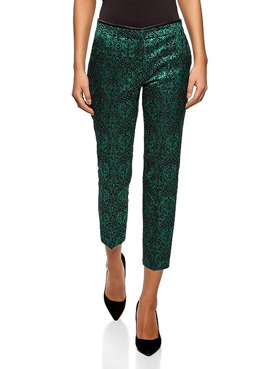 Pantalones de Jacquard con estampados brillantes para fiestas.