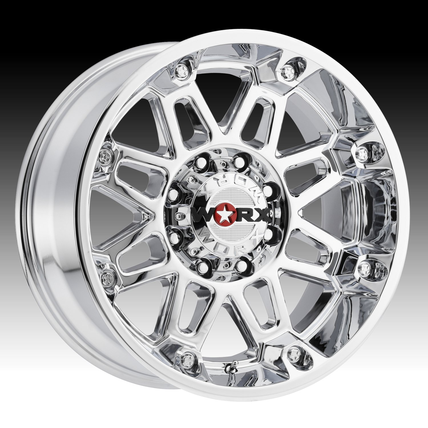 Worx 811C Conquest Chrome Plated Wheel with Chrome Finish (20x9''/8x180mm, +25mm Offset)