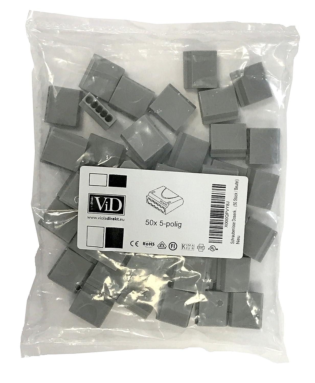 ViD Schraubenlose Dosenklemme grau (50 Stü ck / Beutel)