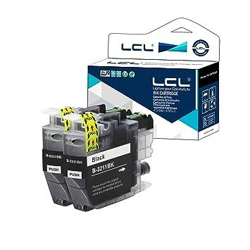 LCL Cartucho de Tinta Compatible LC-3211 LC3211 LC-3211BK LC3211BK (2 Negro) Reemplazo para Brother DCP-J770 DCP-J772DW DCP-J774DW MFC-J890DW MFC-J895 ...