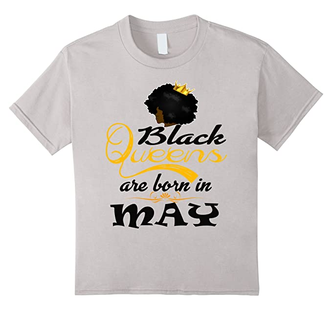 fef5df335 Image Unavailable. Image not available for. Color: Kids BLACK QUEENS ARE  BORN IN MAY - T SHIRT ...