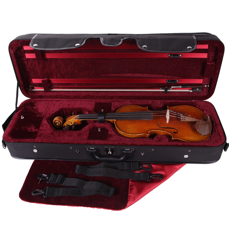 pacato Livorno - Estuche para violín 4/4 Negro/Rojo: Amazon ...