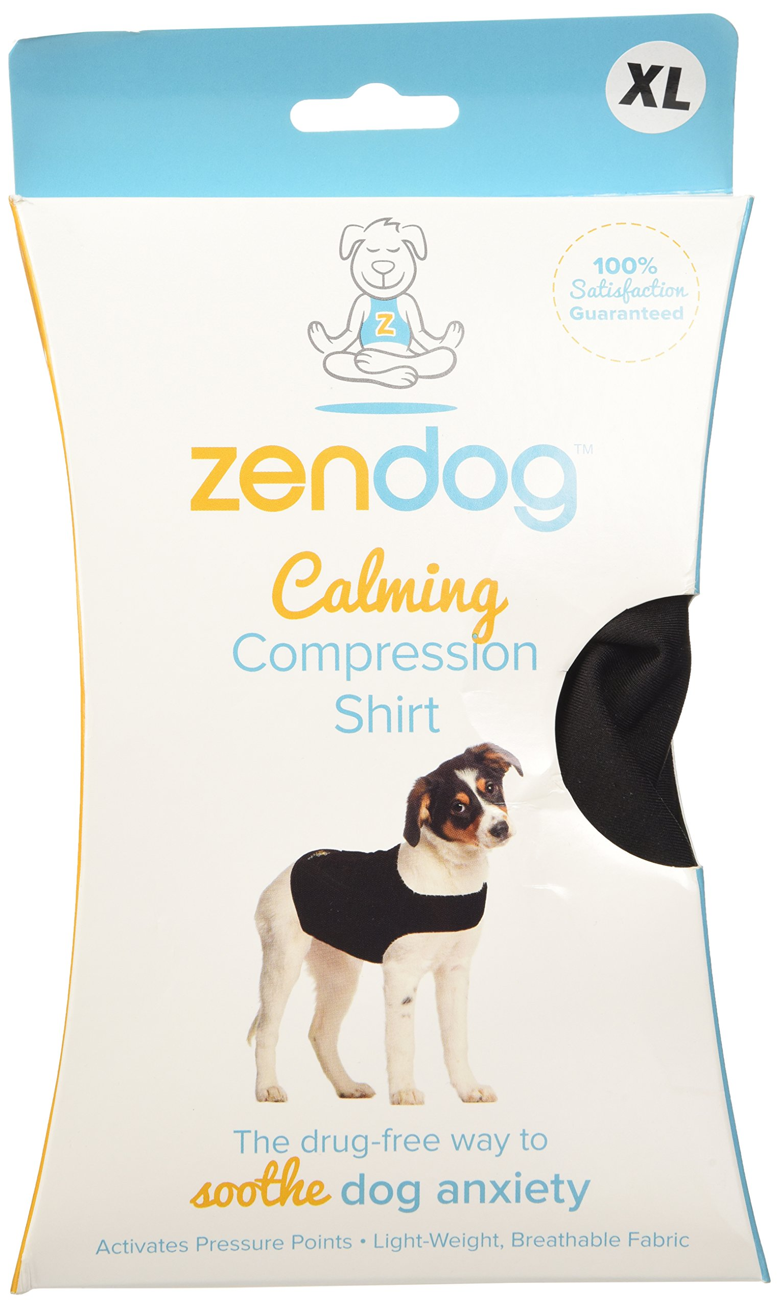 Contech ZenDog Calming Compression Dog Shirt, X-Large, Black by Contech