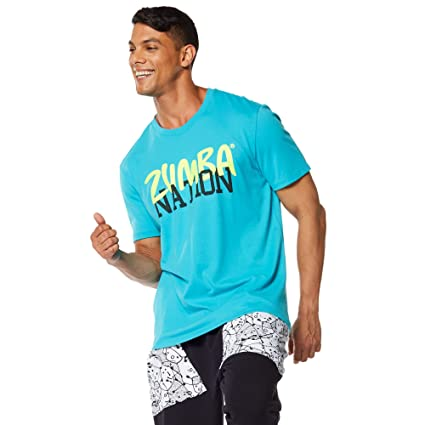 Zumba Fitness® Z Nation - Camiseta para Hombre, Color Azul, Talla M