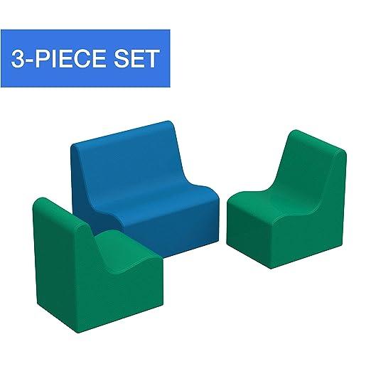SoftScape - Juego de sillón y sofá para niños, de Espuma ...