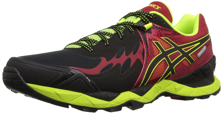ASICS Men's Gel Fuji Endurance Running Shoe B00YCY14HI 9 D(M) US|Black/Onyx/Racing Red