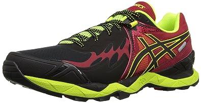 Men's Asics Gel-Fujiendurance Trail Running Shoes Black/Racing Red F72e1400