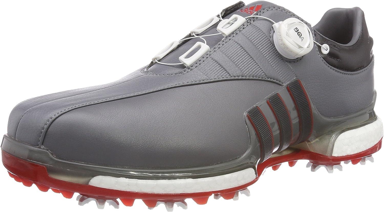 [アディダスゴルフ] ゴルフシューズ ツアー360 EQT ボア メンズ グレーフォー/ユーティリティーブラック/スカーレット 27.5 cm