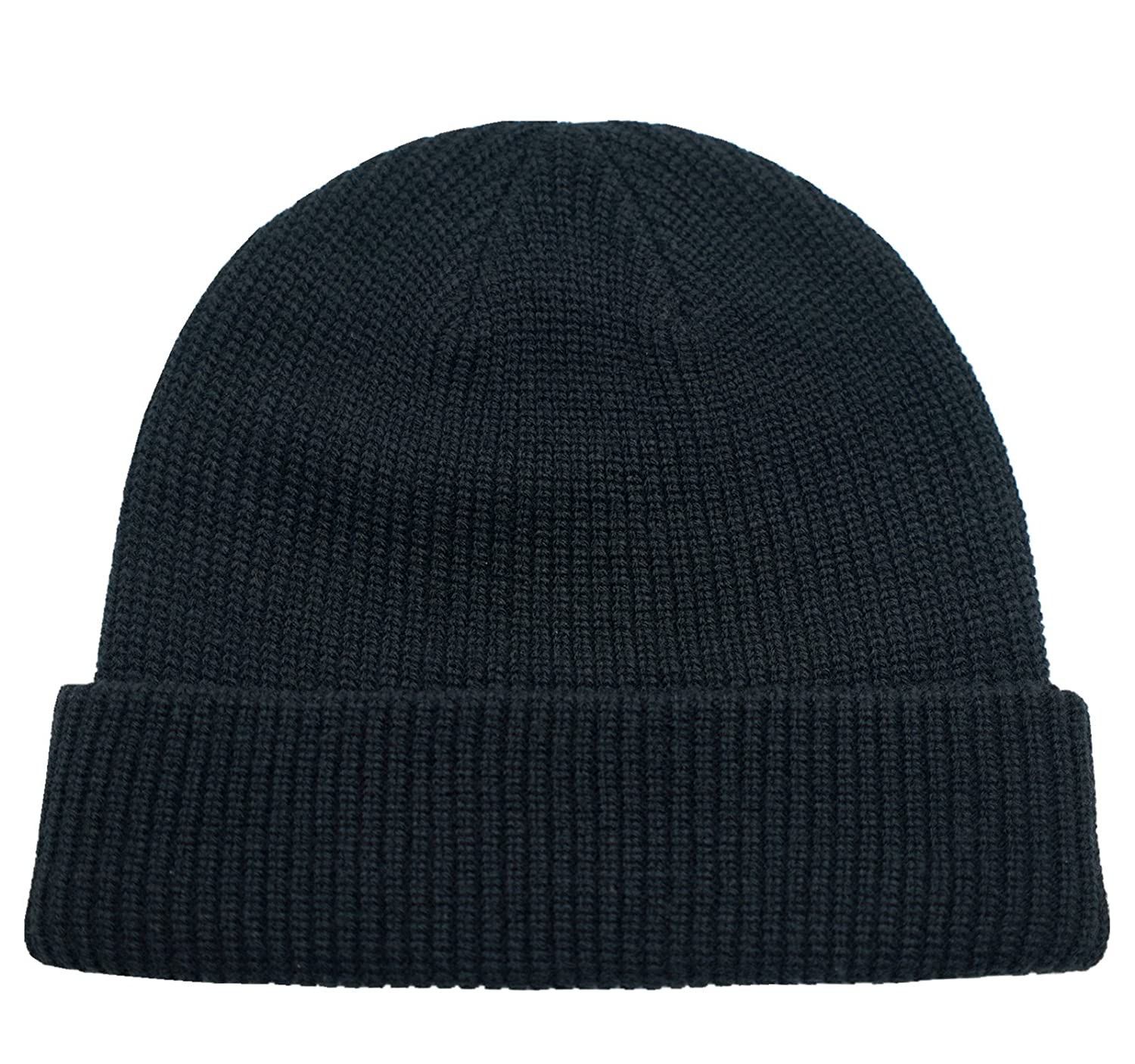 638342920c5 Amazon.com  Connectyle Classic Men  s Warm Winter Hats Thick Knit Cuff Beanie  Cap Daily Beanie Hat Black
