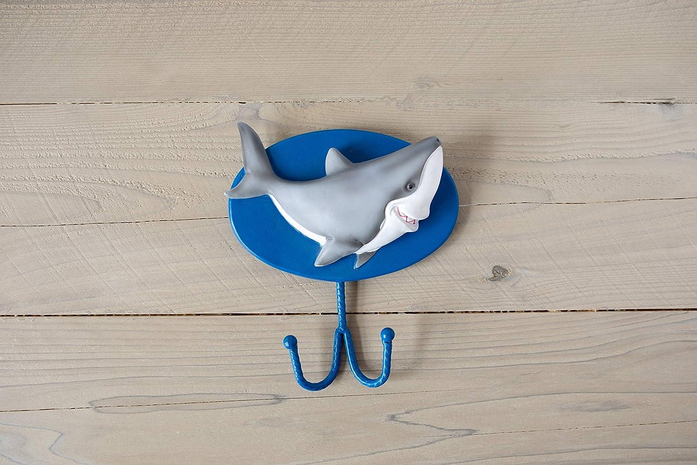 Borders Unlimited Fish 'N Sharks Towel or Coat/Bookbag Wall Hook, Multicolor