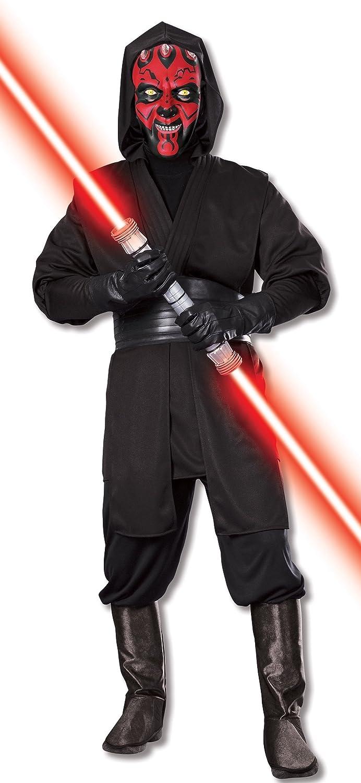 sc 1 st  Amazon.com & Amazon.com: Star Wars Deluxe Adult Darth Maul Costume: Clothing