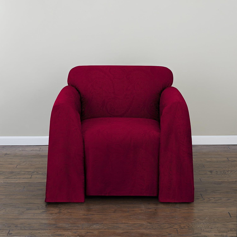 Amazon com stylemaster alexandria furniture throw chair burgundy home kitchen