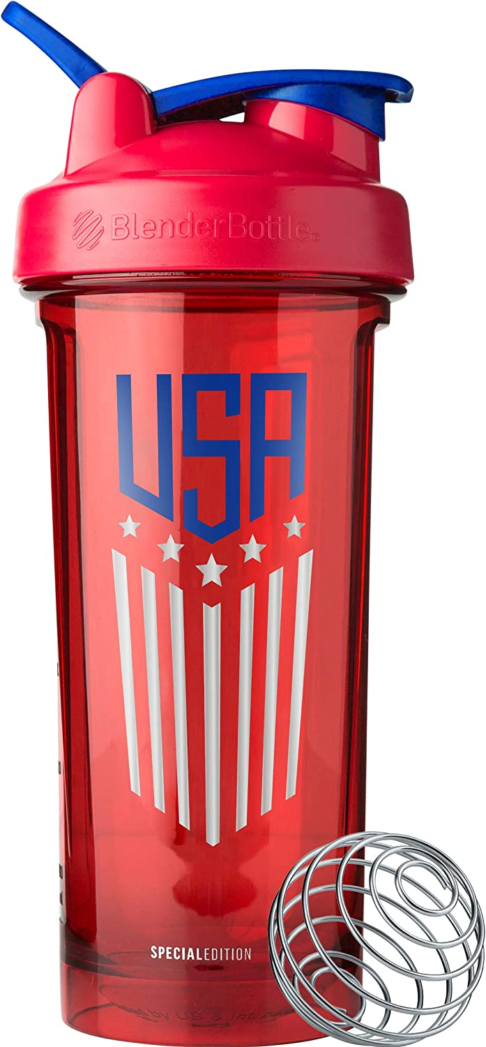 BlenderBottle C04204 Patriotic Pro Series Shaker Bottle, 28-Ounce, USA Stars