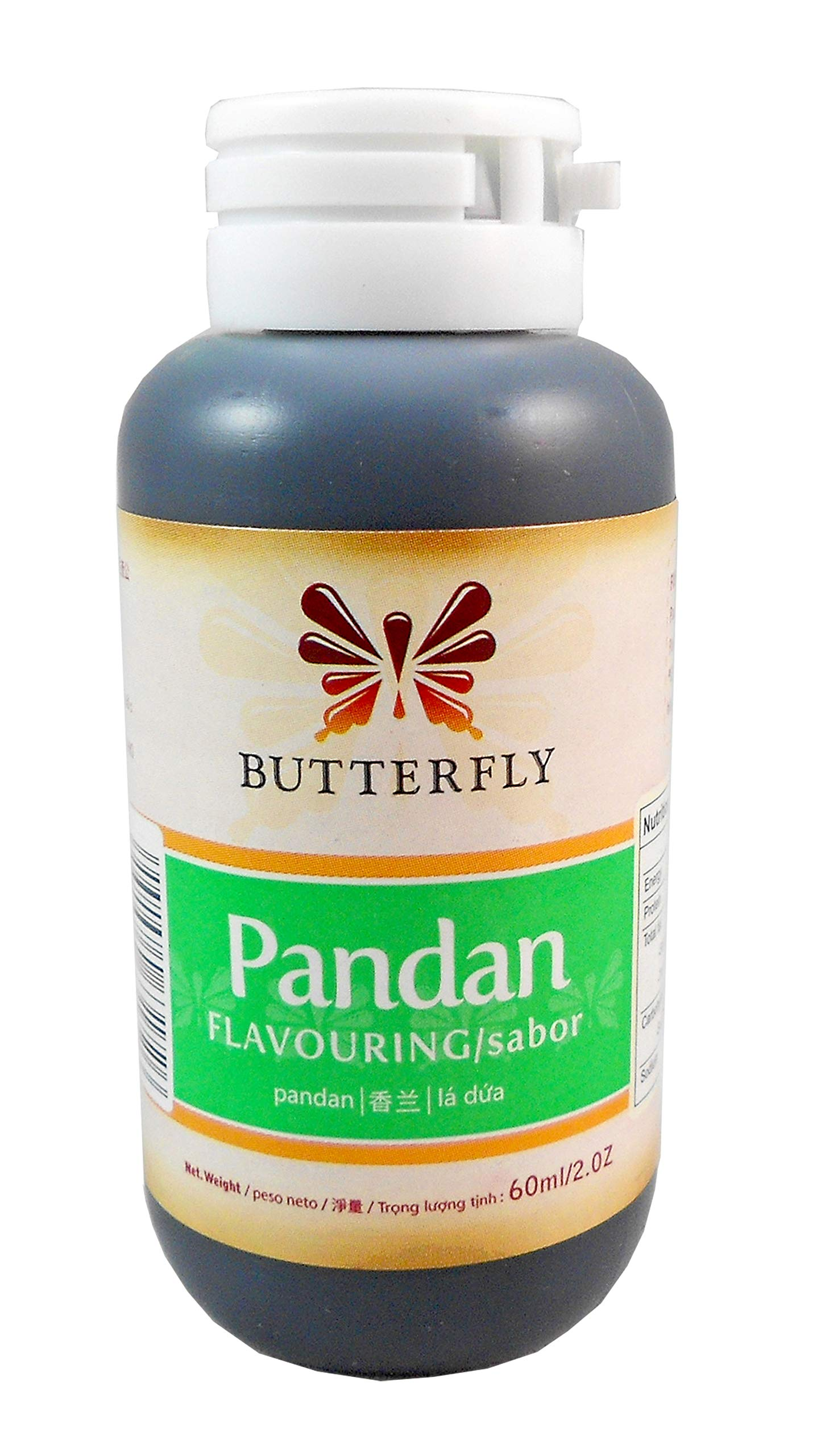 BUTTERFLY pandan flavouring (sabor) - 60ml/2 oz.