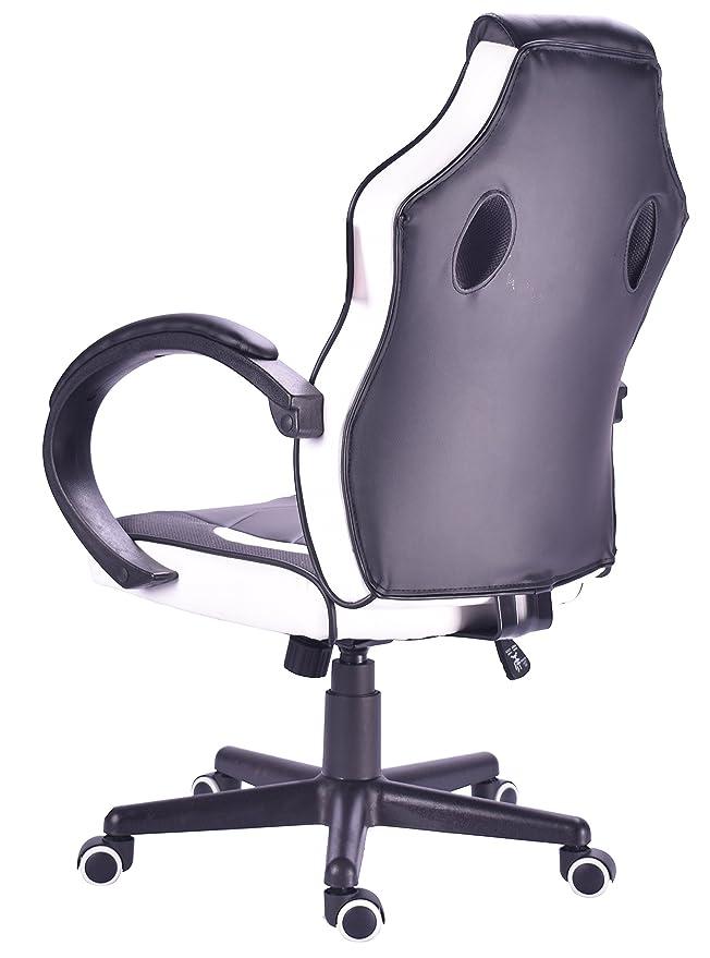 Millhouse diseño de Carreras Deporte giratoria de Oficina Silla Gaming (X2752White)