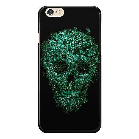 Cover Custodia Protettiva Skull Flower Green Verde Fiori Piccoli