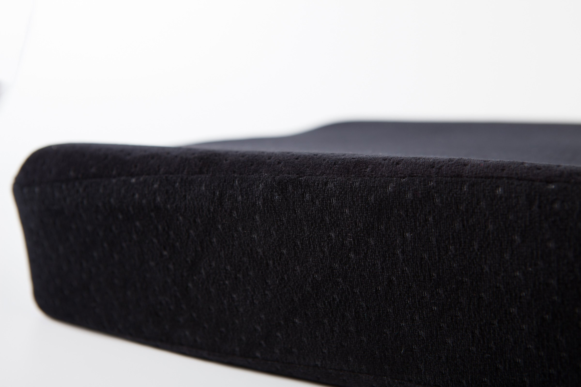 AERIS Memory Foam Seat Cushion Premium Large Office Chair Pad with a Buckle to Prevent Sliding-Car Machine Washable Black Plush Velour Cover by AERIS (Image #9)
