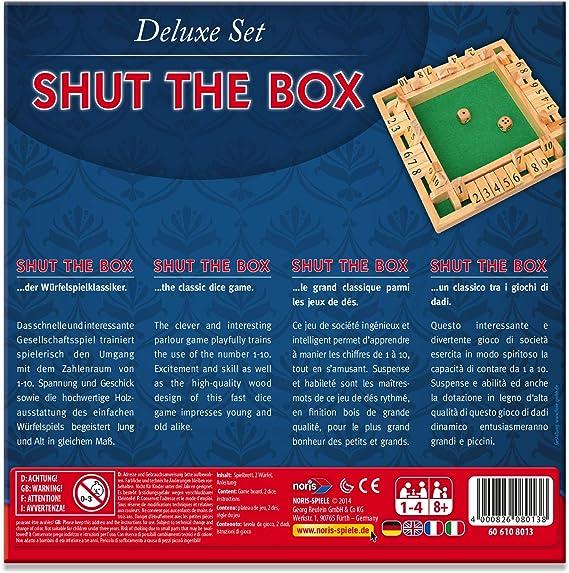 jeu Deluxe Shut the box