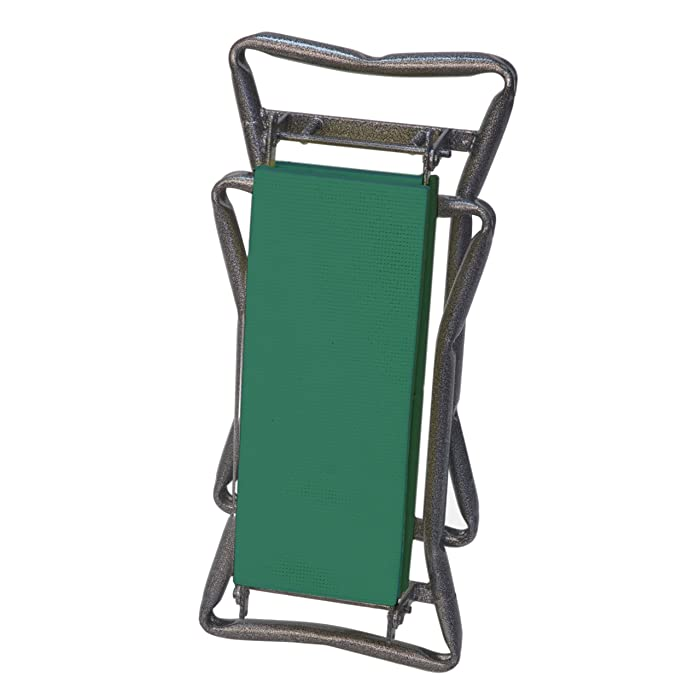 Yard Butler Portable Lightweight Garden Kneeler/Seat Combination Kneeling Pad and Outdoor Stool with Easy Up Handles Prevents Back Strain for All-Day Gardening - GKS-2 (Older Model)