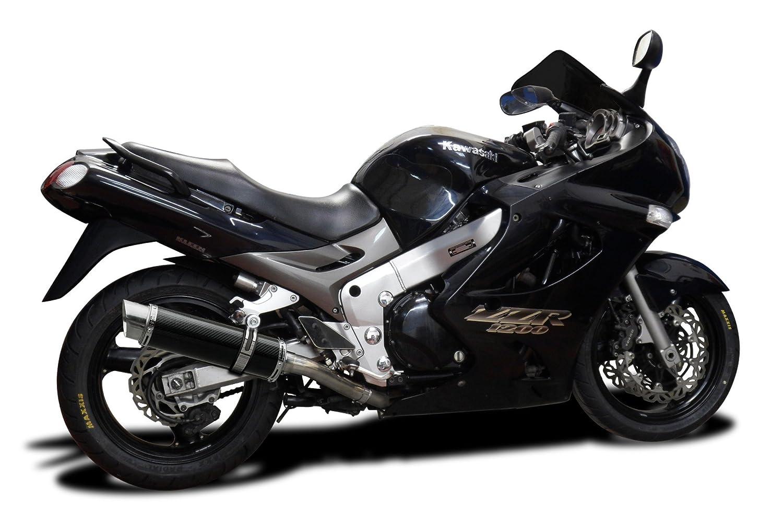 Kawasaki Zzr1200 Dl10 14 Carbon Fiber Round Muffler Zzr 1200 Wiring Diagram Exhaust Slip On 02 03 04 05 Automotive