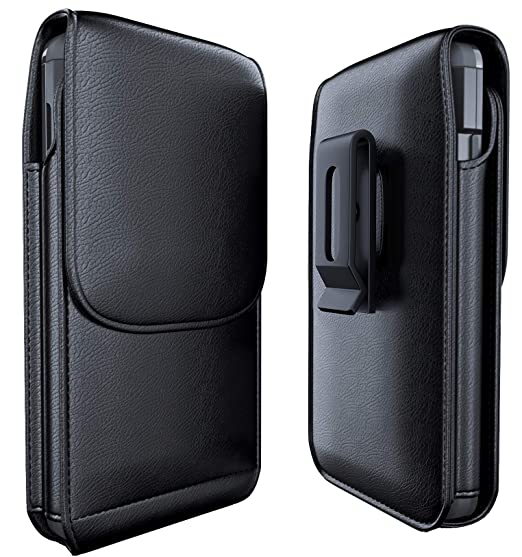 timeless design c2579 19f43 Galaxy Note 9 Belt Case - Samsung Galaxy Note 8 Belt Clip Case with ID Card  Holder Leather Pouch Belt Holster Carrying Sleeve for Samsung Note 8/9 ...