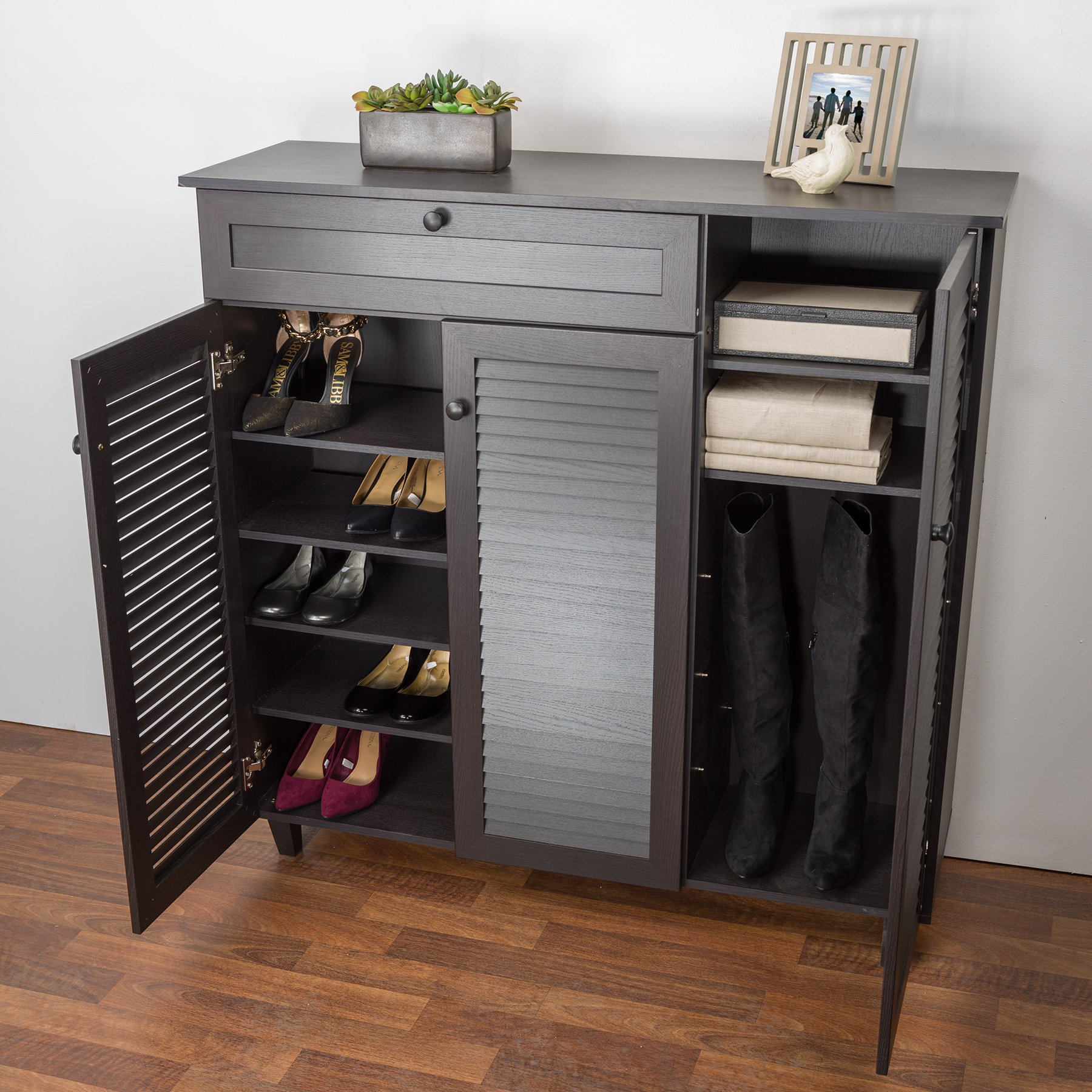 Baxton Studio Pocillo Wood Shoe Storage Cabinet, Brown by Baxton Studio (Image #7)