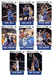 15b7e0878b9 2015-16 Panini NBA Hoops Oklahoma City Thunder Veterans Team Set of 8 Cards: