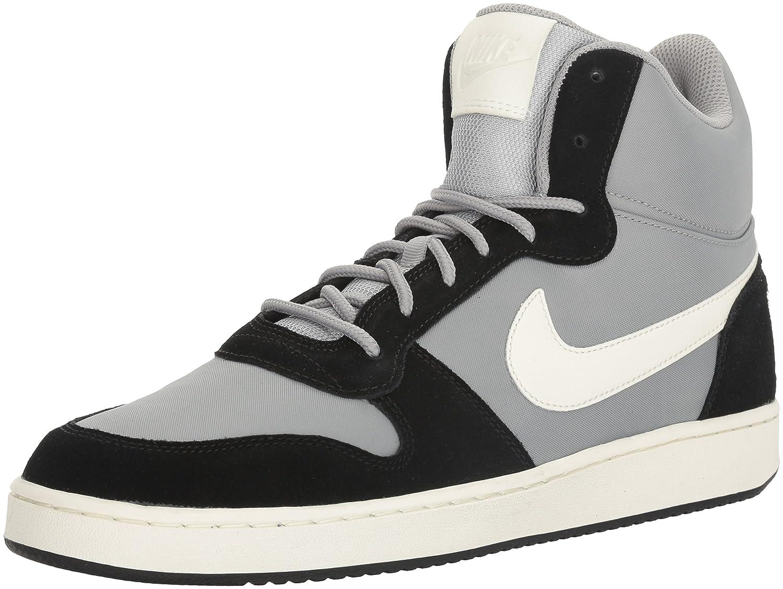 NIKE Men's Court Borough Mid Premium Basketball Shoes B01K6R4OC6 10 D(M) US|Matte Silver/Sail/Black