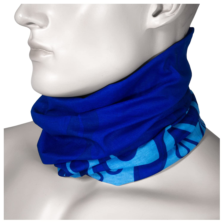 Multifunktionstuch Schlauchtuch aus Mikrofaser - für Motorradtuch Snowboardtuch Fashion etc! (Blau Flamme)