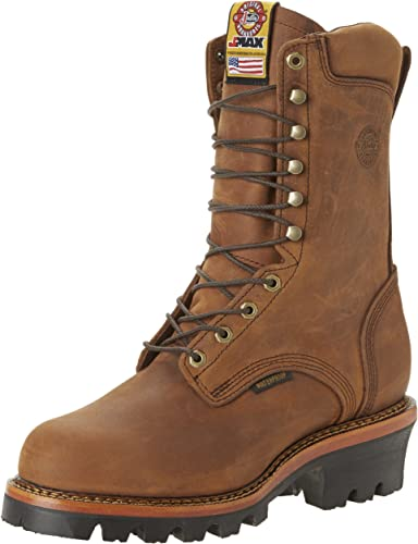 Justin Original Work Boots Men's Jmax Logger Steel TE Steel Toed Work Shoe