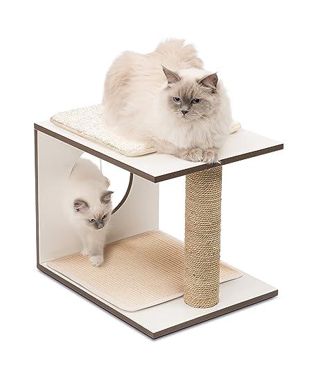 Vesper Rascador para Gatos V-Stool, Color Blanco