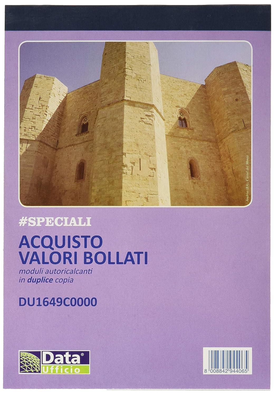 Data Ufficio 024232.01 Blocco Acquisto Valori Bollati 50/50, Ricalcante Data Ufficio S.P.A.