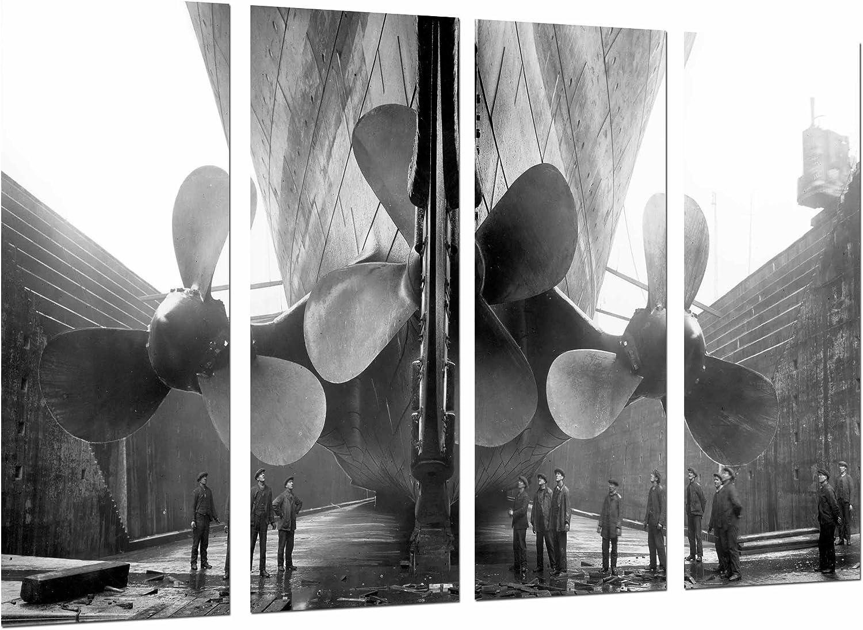 Cuadro Camara Fotográfico Barco Antiguo, Helices Gigantes, Vintage ...
