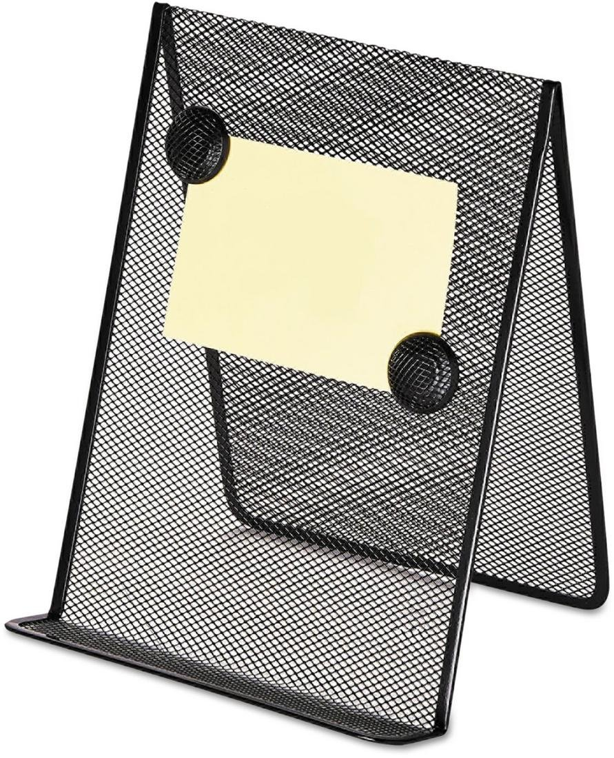 Universal 20027 Metal Mesh Document Holder, 9 x 8 5/8 x 11 3/8, Free Standing, Black