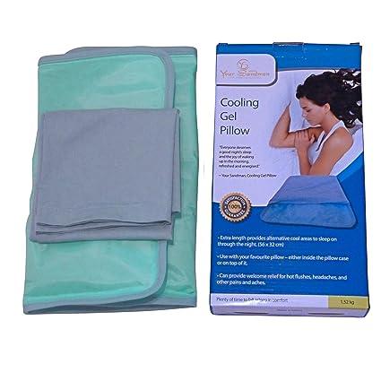 Enfriador de almohadas Your Sandman: la Almohada de Gel de Enfriamiento Grande en funda de almohadas para proporcionar un Mejor Descanso, aliviar la ...