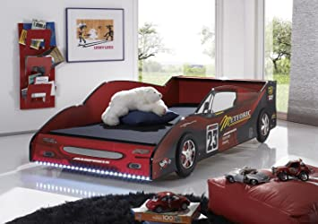 Autobett Kinderbett 90x200cm Auto Bett Formel Mit Beleuchtung Led