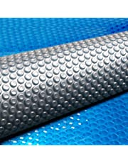 Solar Pool Cover 500 Micron Bubble 6.5M X 3M Blue Top Silver Bottom Solar Swimming Pool Heater Blanket for In-Ground Above-Ground Swimming Pools
