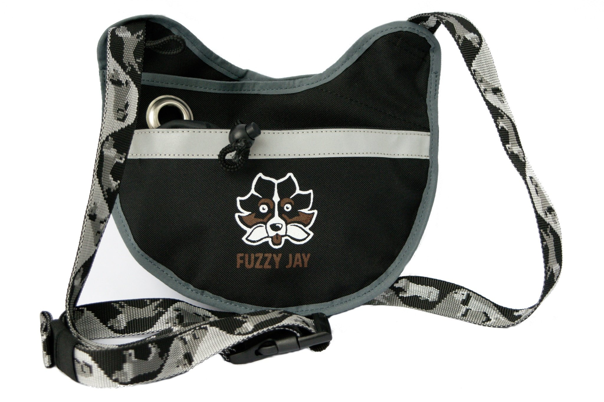 FUZZY JAY Agility Training Bag - Dog Treat Pouch (Black/Grey)