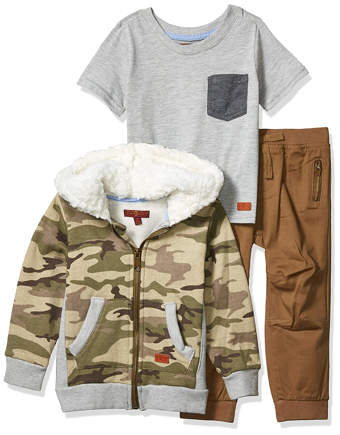 7 For All Mankind Boys Toddler 3 Piece Set