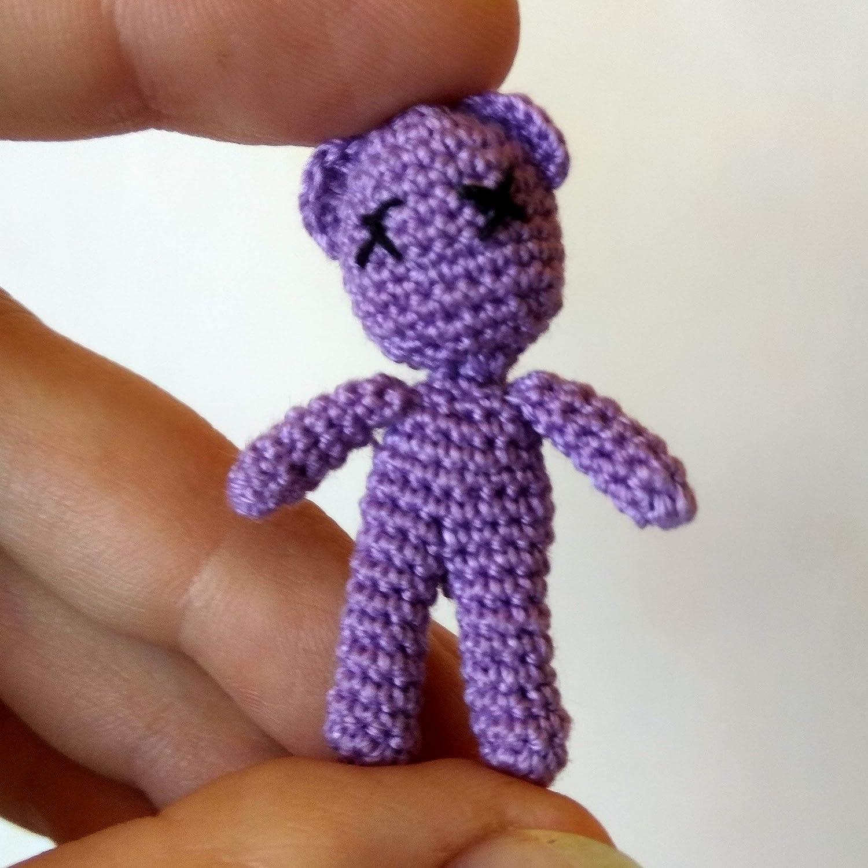 Crochet Teddy Bear Dollhouse Miniature Toy, 1 inch Doll, Tiny Winy ... | 1500x1500