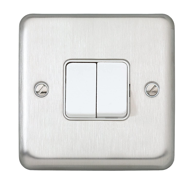 MK Albany Plus K4671BSS 10A 1-Gang 2-Way Single Pole Switch: Amazon ...