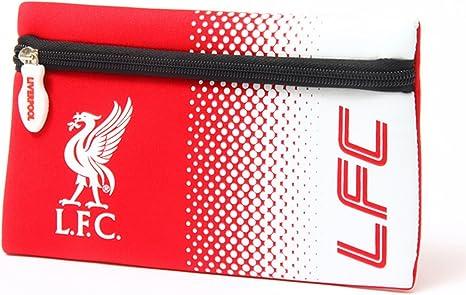 Liverpool FC - Estuche plano oficial escudo (Talla Única) (Rojo/Blanco): Amazon.es: Ropa y accesorios