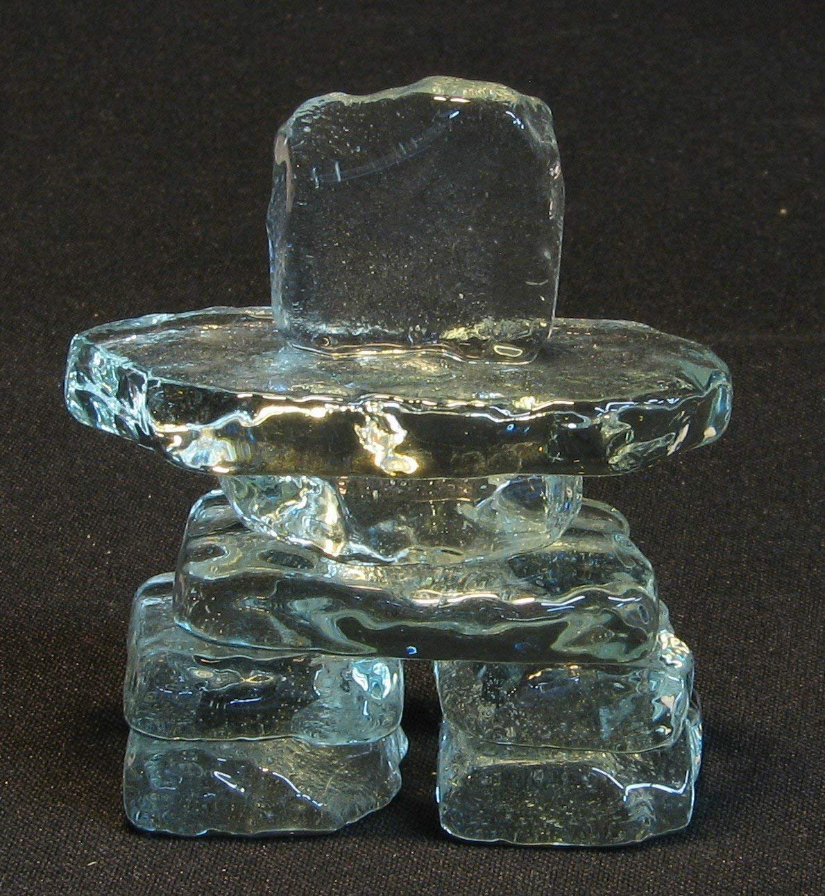 2.5 Clear Glass Inukshuk