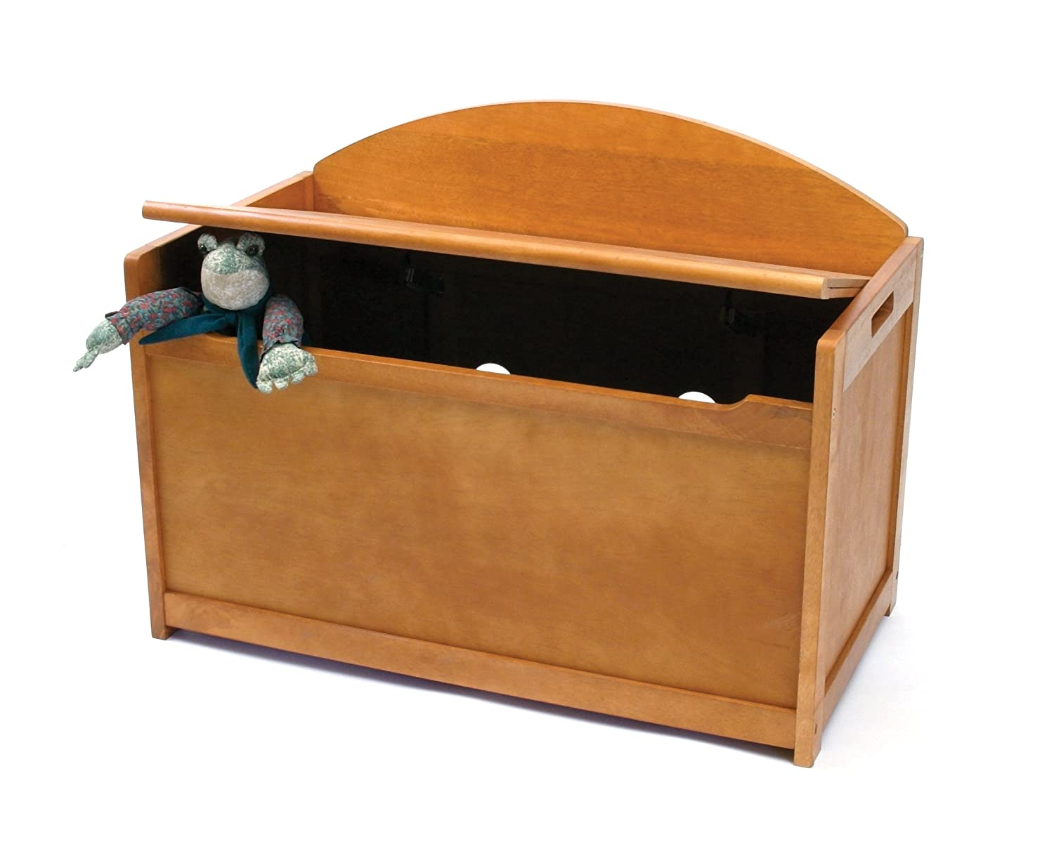 Lipper International 598WN Child's Toy Chest, 33.25 W x 17.75 D x 24.5 H, Walnut Finish Inc. Lipper International