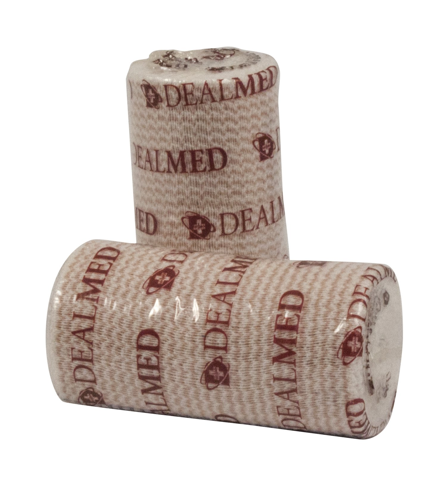 Elastic Bandage Wrap, Comfort-Stretch, Compression Roll, 4'' x 4.5 Yards, Latex Free, with Self Velcro Closure 10 Rolls per Box …