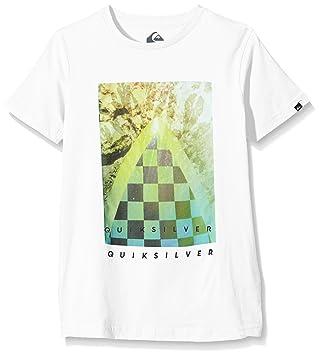Quiksilver Checker Channel B Tees WBB0 - Camiseta para niño, Color Blanco, Talla S/10: Quiksilver: Amazon.es: Deportes y aire libre