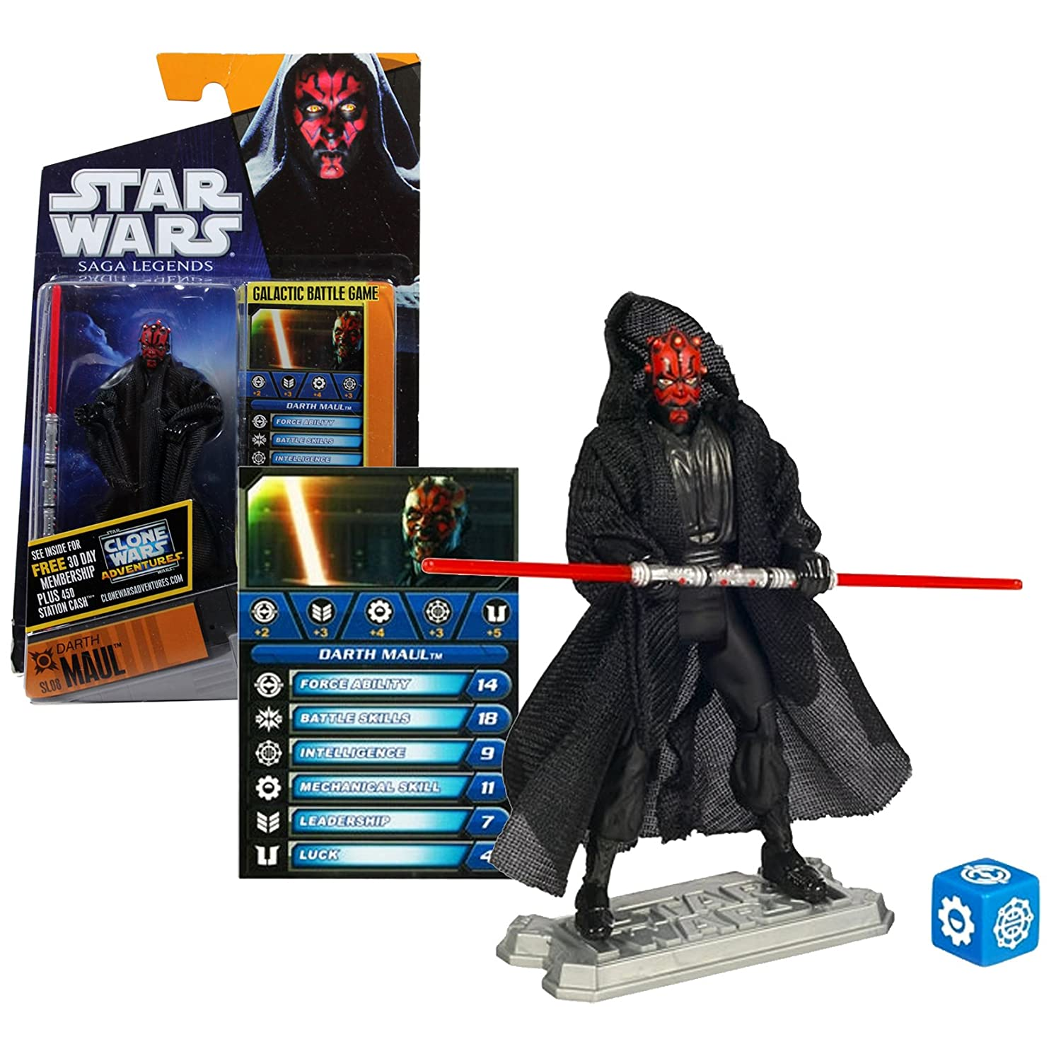 Hasbro Year 2010 Star Wars Saga Legends Galactic Battle Game 4 inch Tall Action Figure - SL08 DARTH MAUL with B00I0MH2KQ