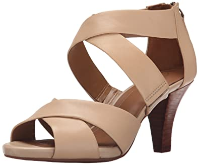 CLARKS Women's Florine Sashae Dress Sandal, Nude Leather, ...