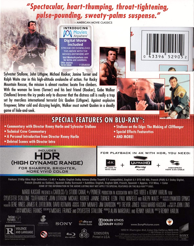 Amazon in: Buy Cliffhanger (Uncut) [4K Ultra HD/Blu-ray